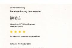 Urkunde Leewarden